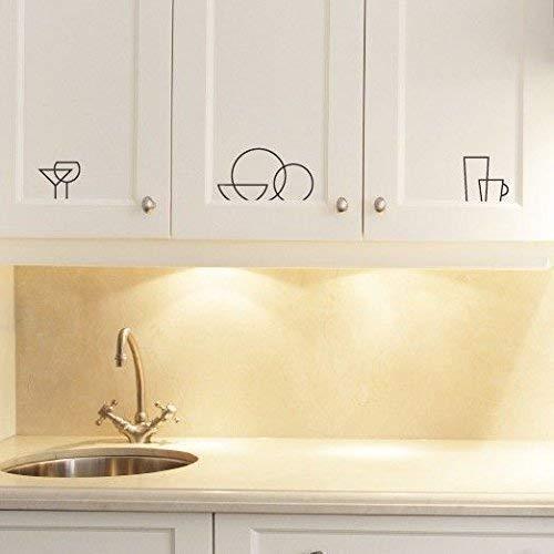 Amazon Com Kitchen Cabinet Decal Logos Vinyl Stickers Modern Cupboard Drawers Home Decor Handmade