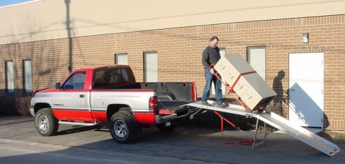 Handi-Ramp Portable Delivery Flatbed Truck Ramp 12ft x 24' w/Undercarriage Mounting Bracket 1200lb Capacity