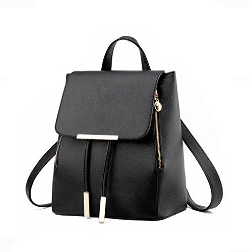 Pahajim - Bolso mochila  de Piel para mujer negro