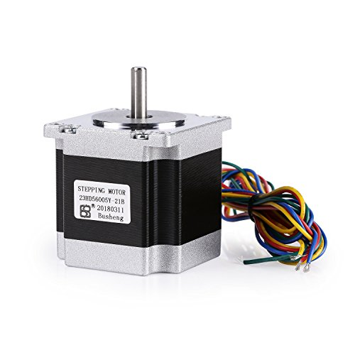 SainSmart 2-Phase Nema 23 Stepper Motor 169oz.in 2A, 57x57x56mm 4-Lead with 1m Cable for 3D Printer CNC