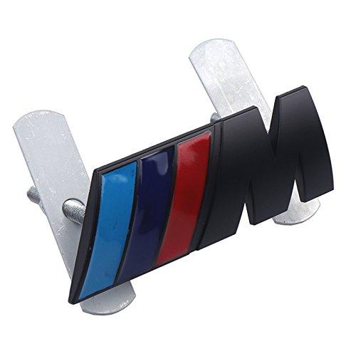 Metal Chrome Badge///M M Power Car Front Grille emblem For BMW M M3 M5 E39 E34 E46 E90 E60 E36 E30 F30 F10 X1 X3 X5 Accessories -