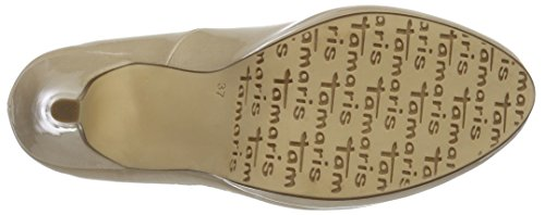 1 Beige Tamaris Scarpe Tacco Patent Punta Donna Col 1 25 cream 452 Chiusa 22417 dvvZ4