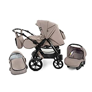 Baby Pram Zeo Mio 3in1 Set – All You Need! carrycot Gondola Buggy Sport Part Pushchair car seat (M3)