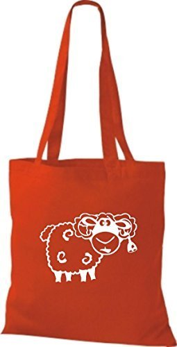 Shirtstown Stoffbeutel Tiere Schaf Schäfchen Rot asyc9YpAfm