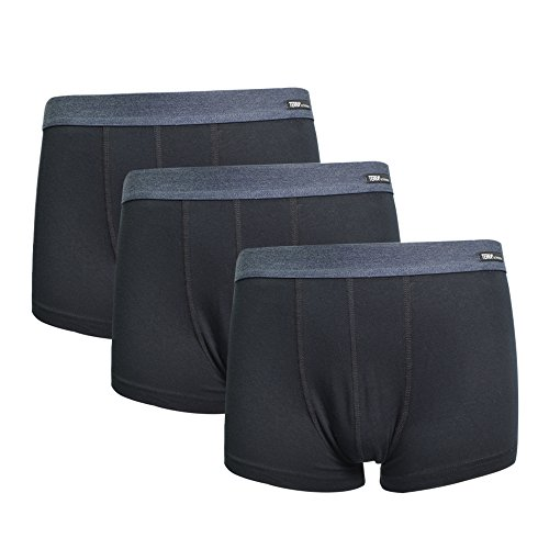 Terra Men's Underwear Low Rise Trunks 3 Pack Cotton Stretch Boxer Brief