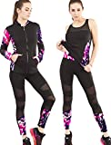 Active Wear Sets For Women-Workout Clothes Tracksuit Jacket+Top+Legging,3pcs Set,Yoga, Gym,Running,Jogging,Sports Outfit