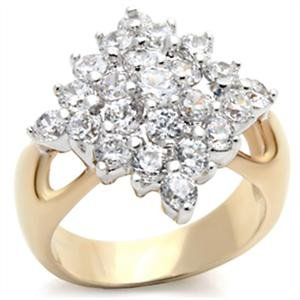 amond Shape Cluster CZ Ring ()