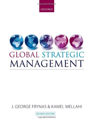 Global Strategic Management by Oxford University Press