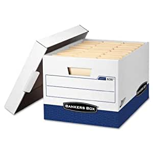 Liberty Max Strength Storage Box, Ltr, 12 x 15 x 10, White/Blue, 4/Carton