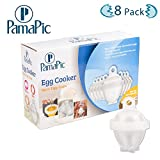 Pamapic Egg Cooker Hard & Soft Maker without Eggshell (8 Eggs Cup and 2 egg yolk separators)