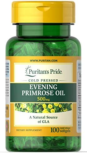 Puritan s Pride Evening Primrose Oil 500 mg with GLA-100 Softgels