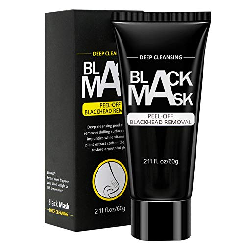 Black Mask Peel off Mask, 2 Pack Charcoal Purifying Blackhead Remover Mask Deep Cleansing for Acne & Acne Scars, Blemishes, Anti-Aging, Wrinkles, Organic Activated Charcoal(1PCS)