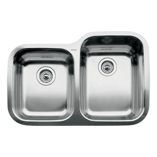 Blanco 510-888R Supreme 1-3/4 Reverse Bowl Undermount Kitchen Sink, Satin Polished Finish (Reverse Bowl Undermount Sink)
