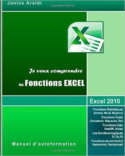 En ligne téléchargement Je veux comprendre les Fonctions Excel pdf, epub ebook