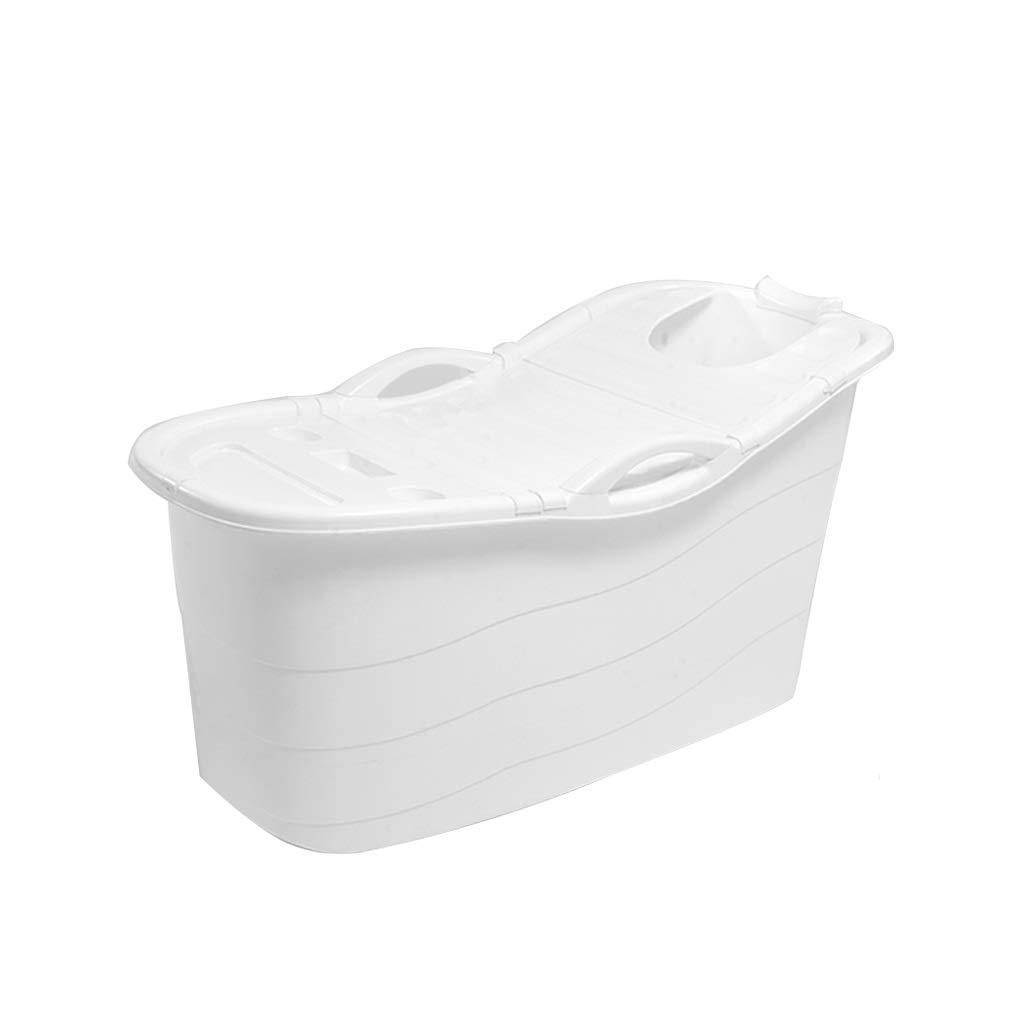 Bath tub Large Adult Bathtub Bathtub Bathtub Bathtub Bathtub Thicken Bathtub Plastic Household Can Sit And Lie 4color (Color : White)