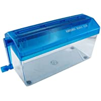 Portable Office Mini A4 Manual Paper Hand Shredder Straight Cut Home Paper Width 9 (Blue)