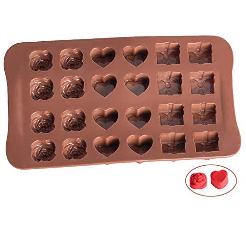 Moldes- XL para Hornear Pan, Silicona Antiadherente Pequeños de pastelería Pastel Caja de Regalo de Dulces, en Forma de...