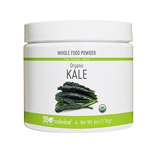 Nubeleaf Kale Powder - Non-GMO, Gluten-Free, Raw, Organic, Vegan Source of Fiber & Essential Amino Acids - Single-Ingredient Nutrient Rich Superfood for Cooking, Baking, Smoothies (6oz)