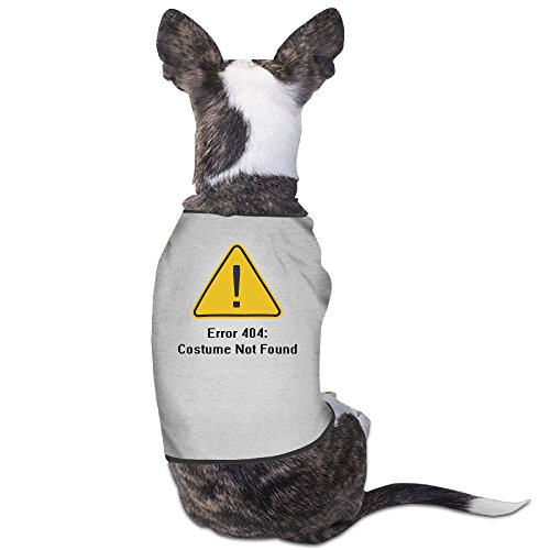 [LeeRa Error 404 Halloween Costume Not Found Dog Jackets] (Costume Not Found 404)