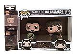 Game of Thrones Set – Funko Jon Snow & Ramsay Bolton Battle of The Bastards Toy Figures w/ Daenerys & Drogon Pop Keychains