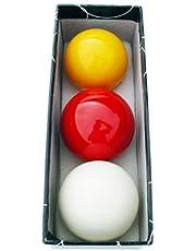 Juego bolas billar carambolas tricolor 61. 5mm