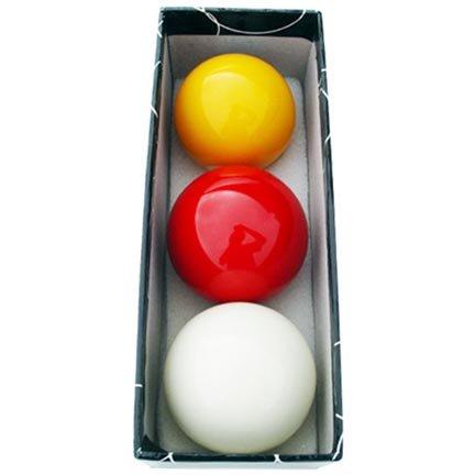 Juego bolas billar carambolas tricolor 57. 2 mm Manuel Gil