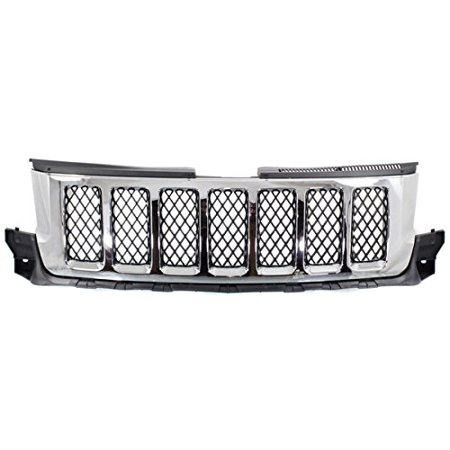 2013 Jeep Grand Cherokee Grill - Koolzap For 11-13 GR. Cherokee Front Grill Grille Assembly Chrome w/Black Insert 57010708AD