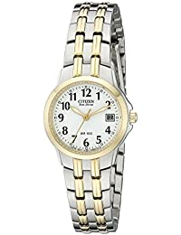 Eco-Drive Womens EW1544-53A Silhouette Two-Tone Stainless Steel Watch