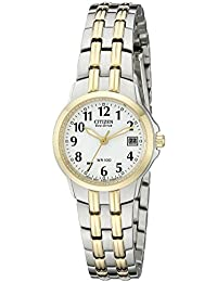 Citizen Women's EW1544-53A Eco-Drive Two-Tone White Dial Watch