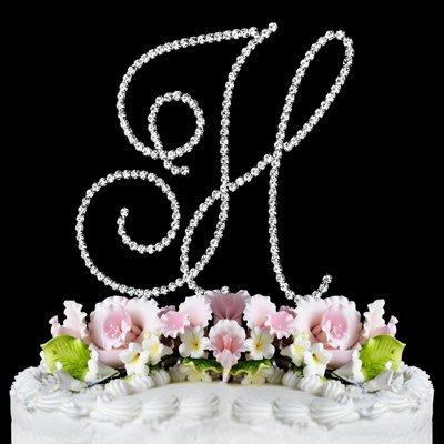 RENAISSANCE MONOGRAM WEDDING CAKE TOPPER LARGE LETTER H by Other