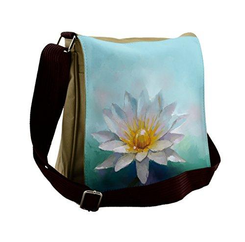 Lunarable Flower Messenger Bag, Impressionist Daisy Drawing, Unisex Cross-body