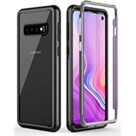 Yocktec Case for Samsung Galaxy S10, [Shock Absorbing] Ultra-Thin Flexible Rubber Clear Soft TPU Bumper Case Cover for Samsung Galaxy S10 Smartphone (Clear)