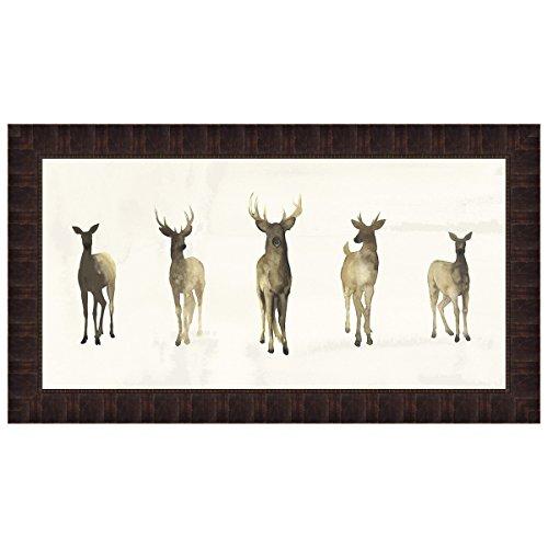Black Forest Decor Deer Herd I Framed Print