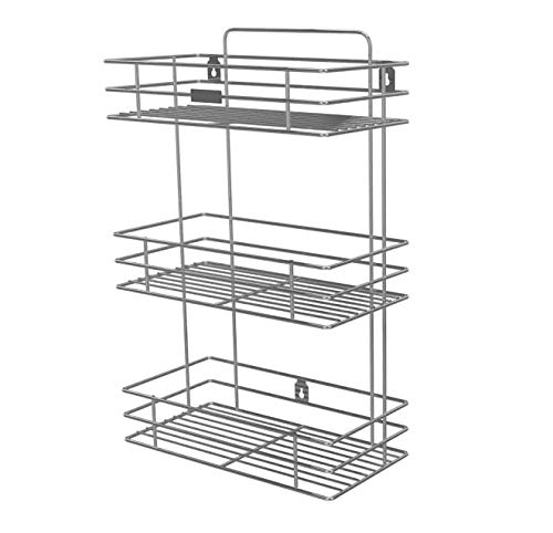 ON_OFF Stainless Steel Wall Mounted Kitchen Storage Hanging Rack Basket Wall Mounted Kitchen Storage Hanging Rack Basket