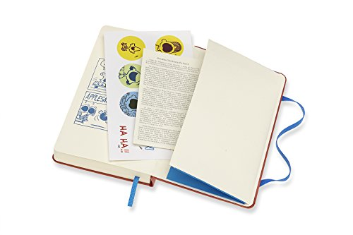 Moleskine Limited Edition Peanuts, 12 Month Daily Planner, Pocket, Coral Orange (3.5 x 5.5)