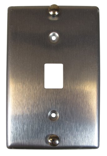 Allen Tel Products AT630AIP-6 Single Gang, 1 Port, 6 Position, 6 Conductor Wall Telephone Outlet Jack, Stainless (Tel Products Mount Plate)