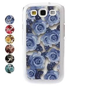 Rose Pattern Hard Case for Samsung Galaxy S3 I9300 (Assorted Colors) --- COLOR:Green