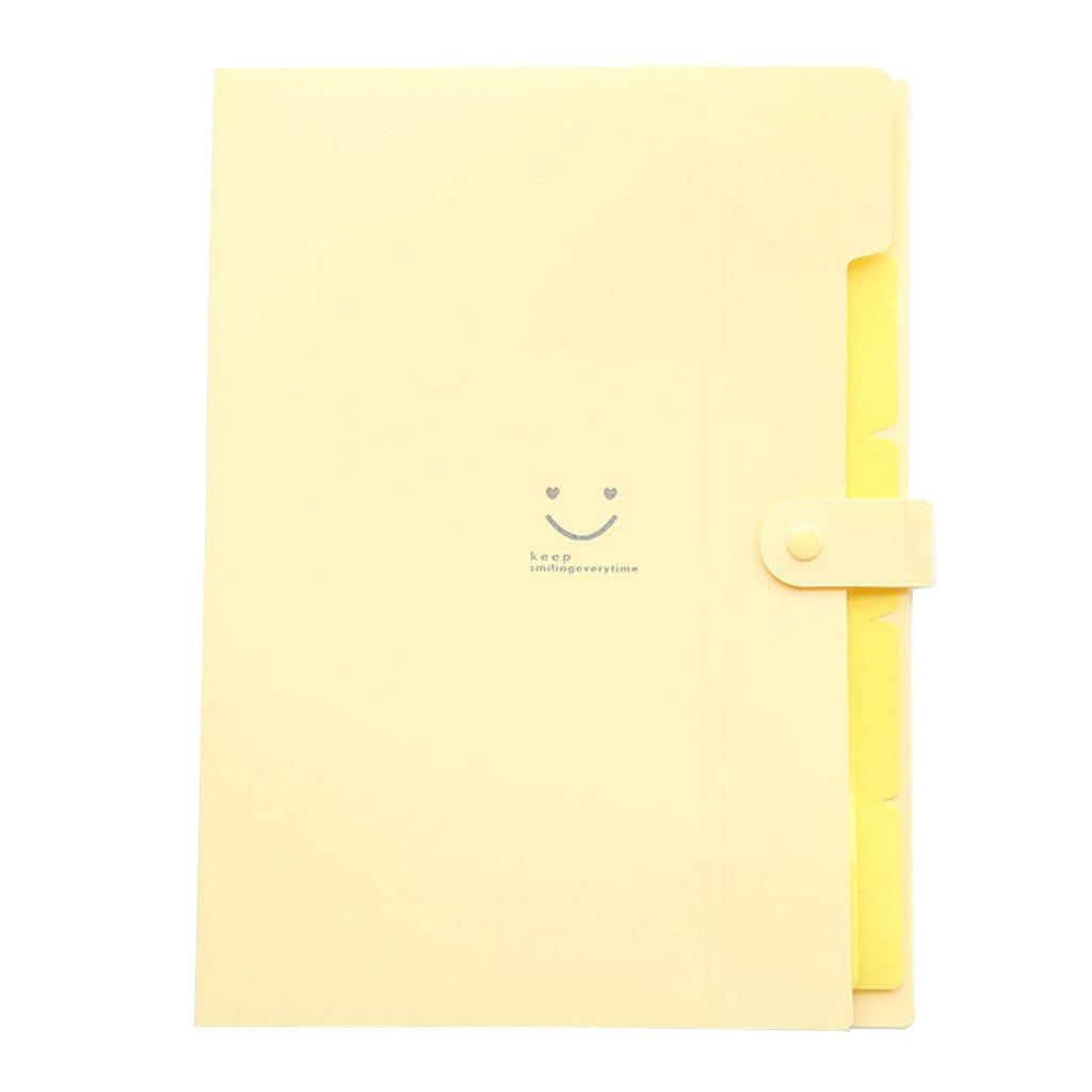 VEVICE fogli A4 cartellina portadocumenti con tasche Accordion Document organizer Yellow … SKC001