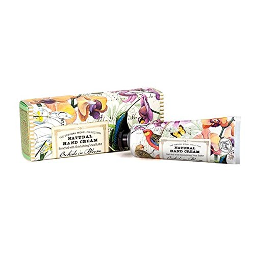 Orchid Shea Butter Hand Cream - Michel Design Works Natural Hand Cream with Shea Butter, Orchids in Bloom,
