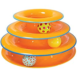 Petstages Tower of Tracks Cat Toy - 3 Levels of Interactive Play - Circle Track with Moving Balls Satisfies Kitty's Hunting, Chasing, and Exercising Needs