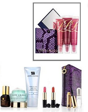 Esstee Lauder 10 Pieces Gift Set 2012 Perfectionist, Resilience Lift, Soft Clean, Perfume, Mascara , Lipstick (Candy Color) . lip gloss