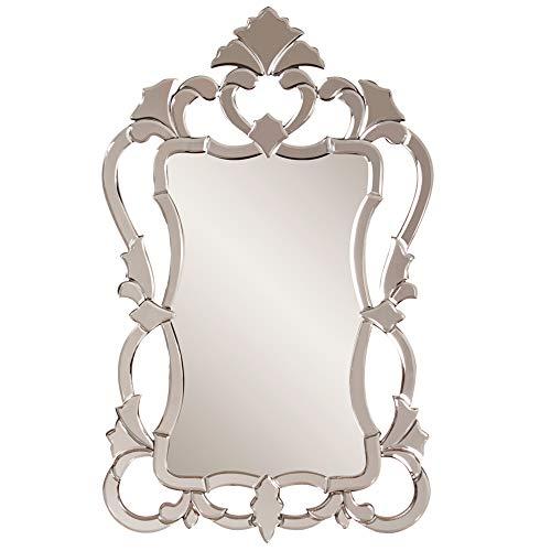 Howard Elliott Contessa Rectangular Hanging Wall Mirror, Mirrored Frame, 26 x 43 -