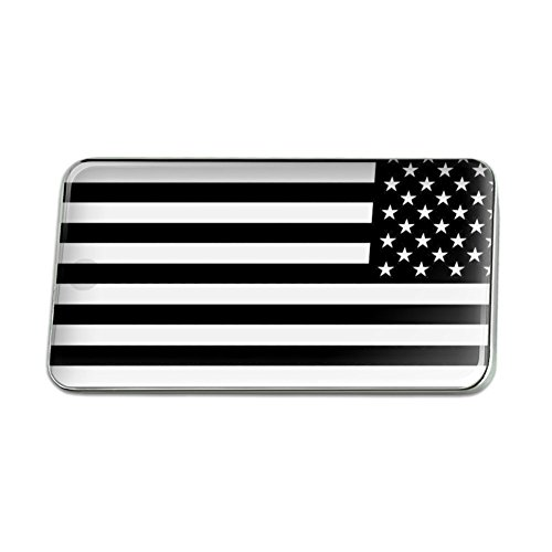 Subdued Reverse American USA Flag Black Rectangle Lapel Pin Tie Tack (American Pin All)
