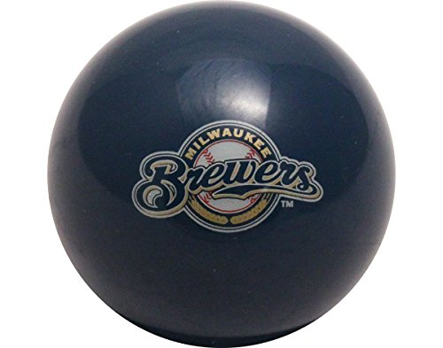 Official Licensed MLB Milwaukee Brewers Billiard Pool Table Cue Ball / 8 Ball (Pool Brewers Milwaukee)