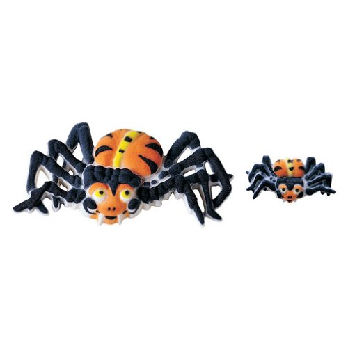 Spider Halloween Sugar Decorations Cookie Cupcake Cake 12 (Spider Brownies For Halloween)
