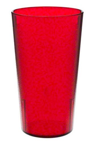 Red Colorware Tumbler - Cambro 1200P2156 Colorware Tumbler 12.6 oz. 5-3/16
