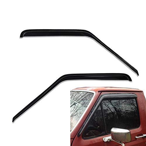 lightronic Vent Visor WV92068 Sun/Rain Guard Window Visors for 1980-1996 Ford F150 & F250 & F350 & Bronco Standard Cab Pickup 2Pcs -