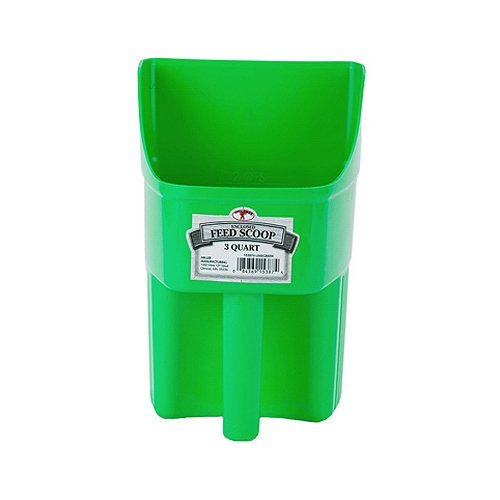 Little Giant 3-Quart Enclosed Feed Scoop, Lime Green by Little Giant Outdoor ()