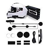 SCS ETC S-7 Motor Helmet Headset, Motorcycle Helmet Bluetooth Headset, Motorcycle Headset Intercom, Wireless Helmet Communication Systems for Motor Motorbike and Skiing with K Cable