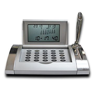 16 Cities World Executive Time Alarm Clock with - World Alarm Calculator Time Clock